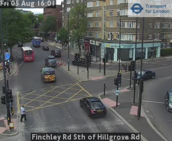 Finchley Road South of Hillgrove Road traffic camera.