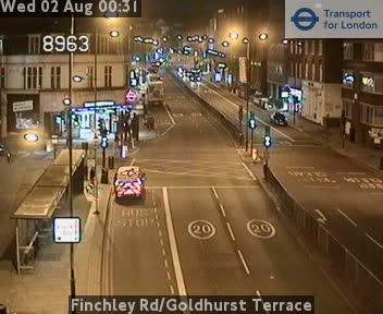 Finchley Road / Goldhurst Terrace traffic camera.