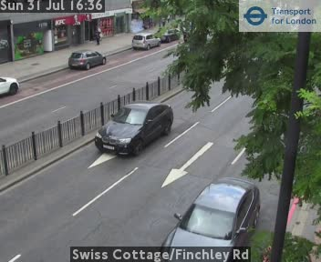 Swiss Cottage / Finchley Road traffic camera.