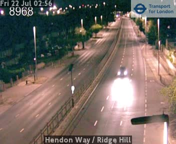 Hendon Way  /  Ridge Hill traffic camera.