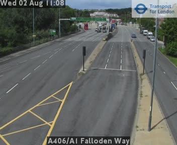 A406 / A1 Falloden Way traffic camera.