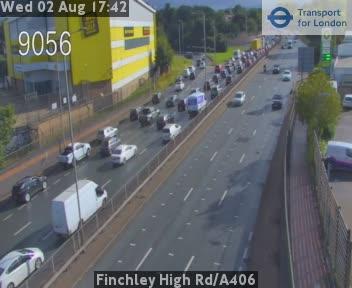 Finchley High Road | A406 traffic camera.