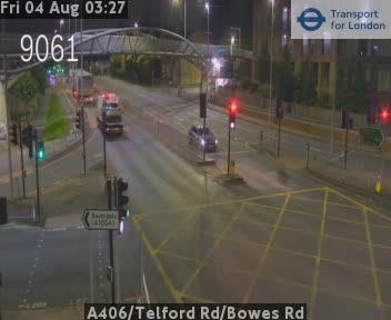 A406 / Telford Road / Bowes Road traffic camera.