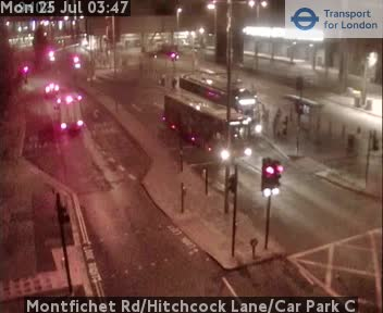 Montfichet Road / Hitchcock Lane / Car Park C traffic camera.
