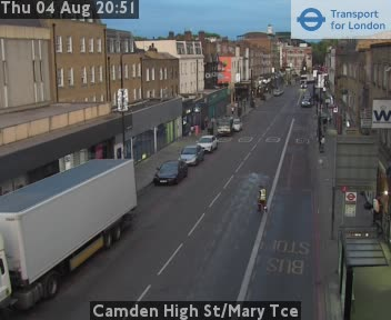 Camden High Street / Mary Tce traffic camera.