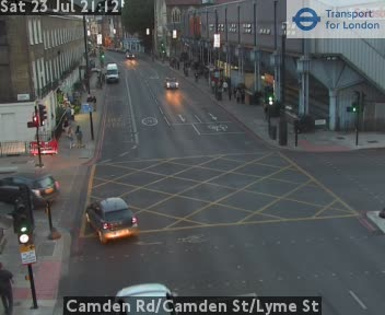 Camden Road / Camden Street / Lyme Street traffic camera.