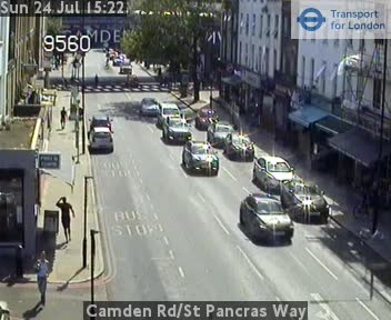 Camden Road / St Pancras Way traffic camera.