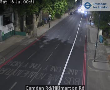 Camden Road / Hillmarton Road traffic camera.
