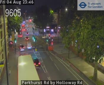 Parkhurst Road by Holloway Road traffic camera.