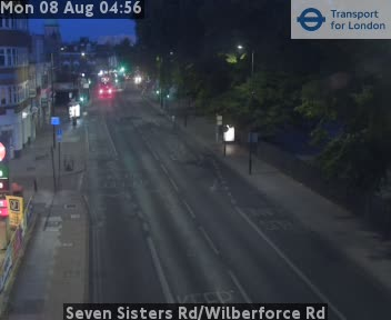 Seven Sisters Road / Wilberforce Road traffic camera.