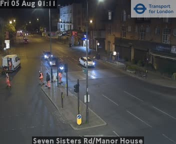 Seven Sisters Road / Manor House traffic camera.
