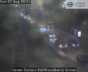 Seven Sisters Road / Woodberry Grove traffic camera.