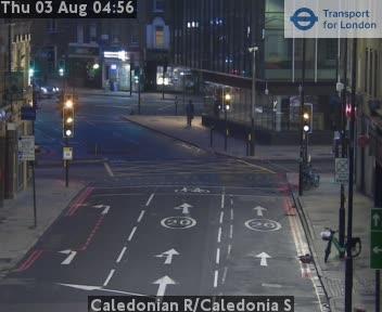 Caledonian Road / Caledonia S traffic camera.
