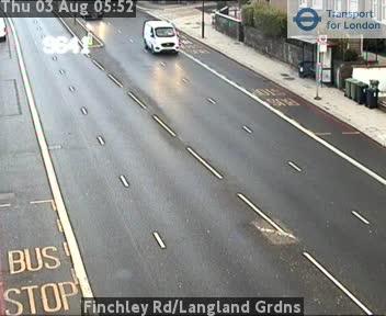 Finchley Road / Langland Gardens traffic camera.