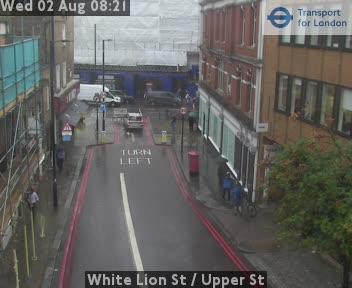 White Lion Street  /  Upper Street traffic camera.