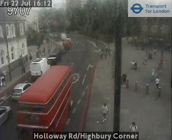 Holloway Road / Highbury Corner traffic camera.