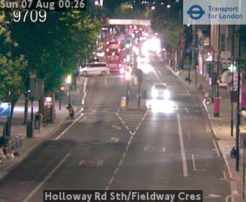 Holloway Road South / Fieldway Cres traffic camera.