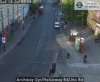Archway Gyratory / Holloway Road / Jnc Road traffic camera.
