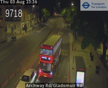 Archway Road / Gladsmuir Road traffic camera.