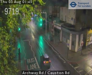 Archway Road  /  Causton Road traffic camera.