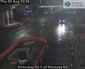 Holloway Road S of Hornsey Road traffic camera.