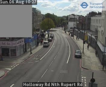 Holloway Road North Rupert Road traffic camera.