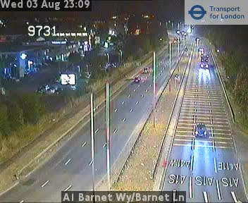 A1 Barnet Way / Barnet Lane traffic camera.