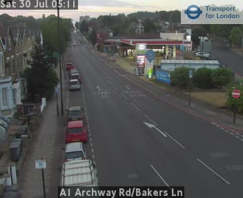 A1 Archway Road / Bakers Lane traffic camera.