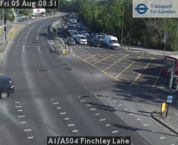 A1 / A504 Finchley Lane traffic camera.