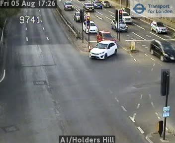 A1 / Holders Hill traffic camera.