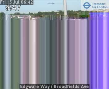 Edgware Way  /  Broadfields Avenue traffic camera.