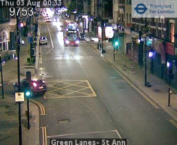 Green Lanes-  St Ann traffic camera.