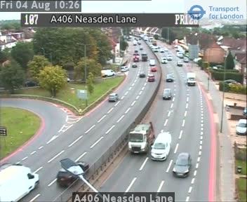 A406 Neasden Lane traffic camera.