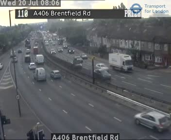 A406 Brentfield Road traffic camera.