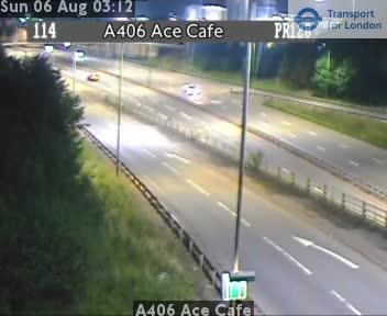 A406 Ace Cafe traffic camera.