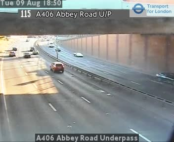 A406 Abbey Road Underpass traffic camera.