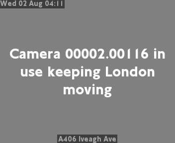A406 Iveagh Avenue traffic camera.