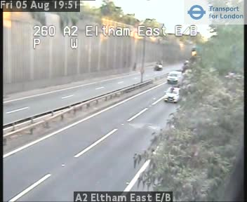 A2 Eltham East Eastbound traffic camera.