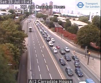 A12 Carradale House traffic camera.