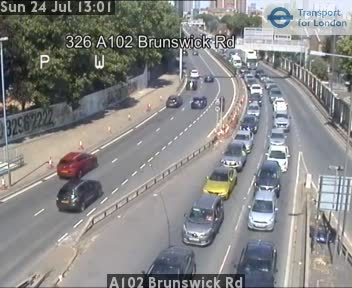 A102 Brunswick Road traffic camera.
