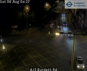 A13 Burdett Road traffic camera.