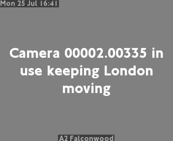A2 Falconwood traffic camera.