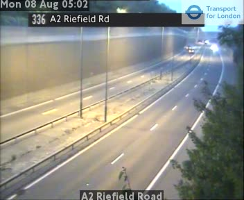 A2 Riefield Road traffic camera.