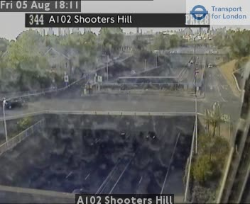 A102 Shooters Hill traffic camera.