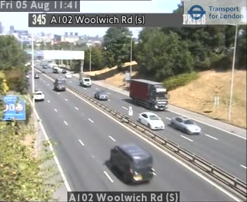 A102 Woolwich Road (S) traffic camera.