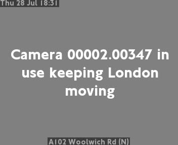 A102 Woolwich Road (N) traffic camera.