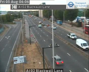 A102 Blackwall Lane traffic camera.