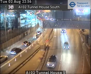 A102 Blackwall Tunnel House South traffic camera.