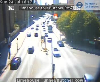 Limehouse Tunnel / Butcher Row traffic camera.
