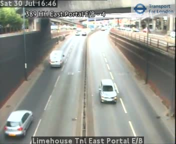 Limehouse Tunnel East Portal Eastbound traffic camera.